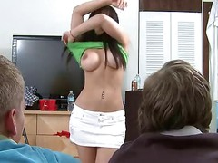 Casting video of sexy brunette