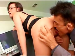 Cute Worker In Glasses Gets Nailed By The Boss