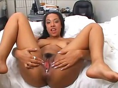 Latin Girl Fucks Asian Guy And Gets Her Love Hole Creamed