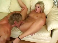Slutty Blonde Chick Sucks Dick Then Gets Fucked And Takes A Load In Her Mouth